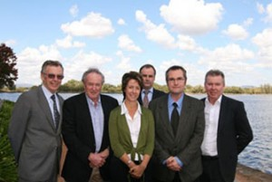Professor John Langford, Emeritus Professor Peter G Flood, Jane Coram, Professor Chris Moran, Professor Craig Simmons, Associate Professor David Laurence